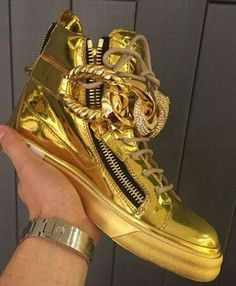 Giuseppe zanotti original leather gold sneakers