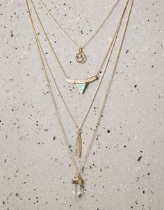 Bershka Mexico - Set 4 collares formas