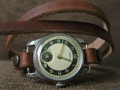 Handmade  VINTAGE SOVIET Wrist Watch  Natural by AliceMidnight