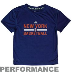adidas New York Knicks Preschool On-Court ClimaLITE Performance T-Shirt - Royal Blue - $19.99