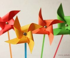 How to make pinwheels (without a punch/die)