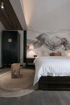 Li Man Shen Mi Ji Hotel by Yiduan Shanghai Interior Design Design Hotel, Hotel Bedroom Design, Home Decor Bedroom, Lounge Design, Hotel Bedrooms, Bedroom Ideas, Bedroom Artwork, Bedroom Designs, Bedroom Furniture