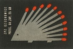 Vintage Polish matchbox label