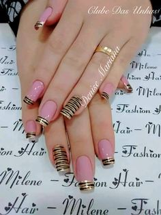Hey there lovers of nail art! In this post we are going to share with you some Magnificent Nail Art Designs that are going to catch your eye and that you will want to copy for sure. Nail art is gaining more… Read Simple Nail Art Designs, Easy Nail Art, Nail Designs, Cute Nails, Pretty Nails, My Nails, Nail Polish, Nail Nail, Square Nails
