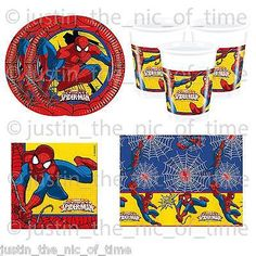 Marvel #ultimate spiderman boys birthday #party tableware plates cups #napkins ,  View more on the LINK: http://www.zeppy.io/product/gb/2/142042923581/
