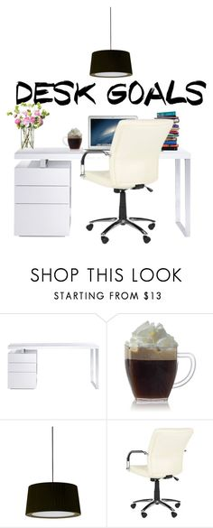 """desk goals"" by natalyholly on Polyvore featuring interior, interiors, interior design, home, home decor, interior decorating, Bellini, 7 For All Mankind, Santa & Cole and LSA International"