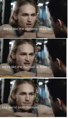 THE HOMEMADE HUMOUR: We're Like Batman & Robin, But..