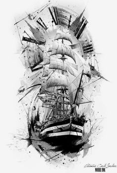 Inspiring ship tattoo