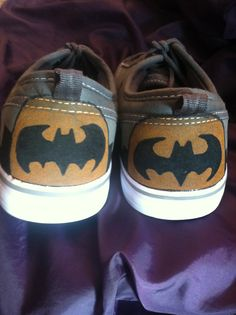 love this! paint batman logo on a pair of white converse maybe.. on top of the toe-area