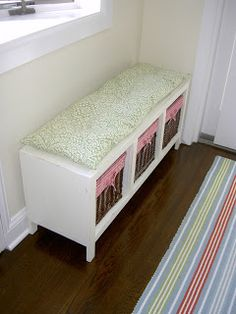 Storage bench http://thatsmyletter.blogspot.ca/2010/09/b-is-for-bench.html