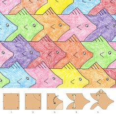 Art Projects for Kids: Fish Tessellation