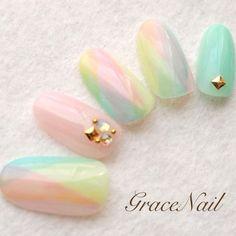 Me likey for Easters Love Nails, Pretty Nails, Pointed Nails, Kawaii Nails, Japanese Nail Art, Fabulous Nails, Cute Nail Designs, Nail Arts, Nail Trends