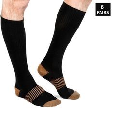 awesome Extreme Fit ® Unisex Copper-Infused Pain-Relief Compression Socks (6 Pairs)...by http://dezdemoonfitnes.gdn