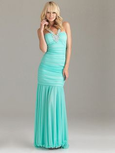 Column Light Blue Sweetheart Crossing Back Long Prom Dress With Sequins