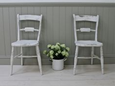 Rustic Bar Back Kitchen Chairs - For Sale | Distressed But Not Forsaken