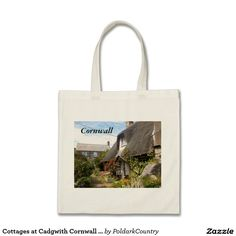 Cottages at Cadgwith Cornwall Photograph Budget Tote Bag