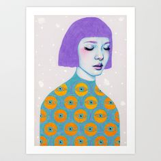 The Observer art print by Natalie Foss