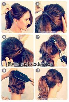 Como hacer un peinado así d fácil.