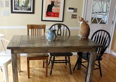 Make this Farmhouse Table for a Smaller Kitchen: Complete Plans and Cut List