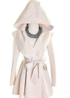 Apricot Long Sleeve Hooded Collar Trench Coat with cheap wholesale price, buy Apricot Long Sleeve Hooded Collar Trench Coat at rotita.com !
