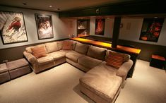 Basement Home Theater - traditional - media room - boston - Backwoods Compatible