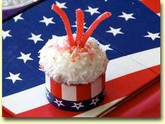Stars and Stripes Themed Cupcake Wrappers by Roundabouts