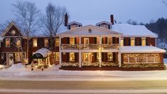 The Green Mountain Inn is a Resort in Stowe. Plan your road trip to The Green Mountain Inn in VT with Roadtrippers. Vermont Winter, Stowe Vermont, New England States, New England Fall, Haunted Hotel, Green Mountain Inn, Romantic Weekend Getaways, Most Haunted Places, All I Ever Wanted