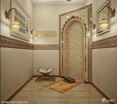 tiny home decorating ideas Room Interior Design, Home Room Design, Interior Decorating, Korean House, Decoraciones Ramadan, Prayer Corner, Islamic Decor, Prayer Room, Room Goals