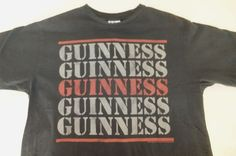 Junk Food Guiness Mens T-shirt XL Gray Green Beer Glass Logo New #JunkFood #GraphicTee