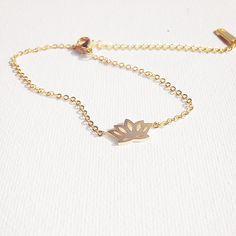 18K gold plated brass love friendship lotus  Yoga bracelet anklet