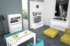 #Obývací #stěna #Lino #moderní #nábytek #Lumax System Furniture, Sofa Furniture, Table Extensible, Buffet, Sofa Bed, Sofas, Vanity, Living Room, Mirror