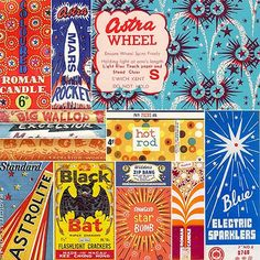 Check out these wild, vintage fireworks packages for #tbt. We hope everyone has a fun, safe and colorful holiday weekend.  #vintage #packagedesign #retrodesign