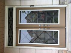 York Supplies Wrought Iron Glass Door Insert Using Our  X Design Model