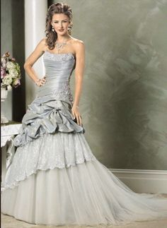 like the varying shades of this silver gown
