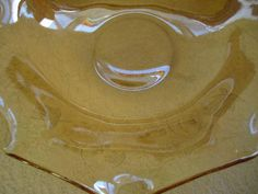 "Jeannette glass Iridescent Floragold ruffle edge Bowl 9 1/2"" carnival glass"