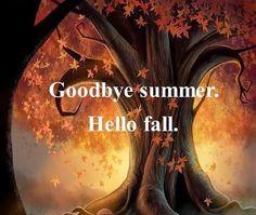 Goodbye Summer. Hello Fall!