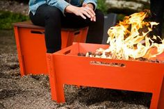 very cool fire pit that doubles as a table