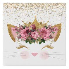 Shop Pretty Kitty Princess Canvas Print created by DizzyDebbie.