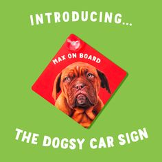 Let those other drivers know who's on Board today. Car Signs, Let It Be, Board, Movie Posters, Animals, Products, Film Poster, Animaux, Animal