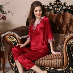 Women's silk robes silk pajamas silk nightgowns silk nighties silk sleepwear silk nightwear silk chemise camisole (627)