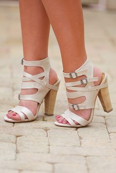Wrapped Up In You Heels - Cream from Closet Candy Boutique-save 10% with free shipping using REPCHRISTY at checkout!
