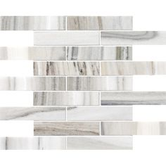 Accent wall option - Skyline Polished 1 1/4x6 Marble Mosaics 12x12 - Country Floors of America LLC.