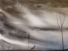 Large A3 Original Watercolour Painting Signed J Flavell My Bullie