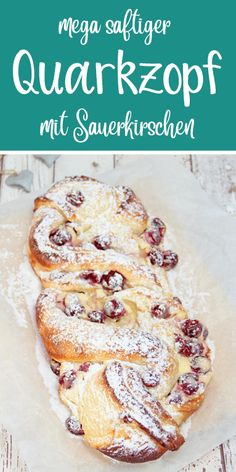 Mega juicy curd cheese with sour cherries. A special yeast braid. Thermomix Re… - apple pie - Mega juicy curd cheese with sour cherries. A special yeast braid. Thermomix Re - Easy Cheesecake Recipes, Easy Cookie Recipes, Dessert Recipes, Quark Recipes, Cream Recipes, Easy Recipes, Food Cakes, Rice Cakes, Sour Cherry