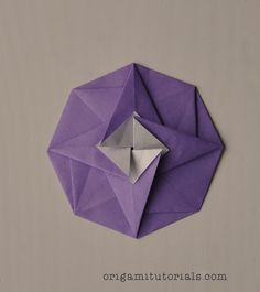 Easy origami square flower envelope with secret message inside origami octagonal tato tutorial origami tutorials mightylinksfo