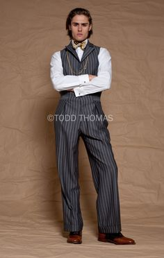 5d4bef4d829c Tinker Tailor bespoke menswear by Todd Thomas. Pinstriped