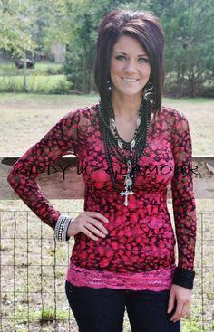 Pink and Black Cheetah Print Lace  $14.95  Small, Medium, Large  http://www.giddyupglamouronline.com/catalog.php?item=6423