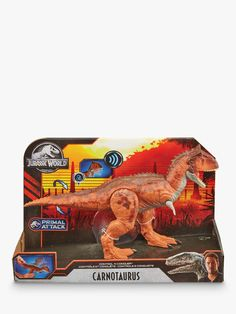 Buy Jurassic Park Control 'N Conquer Carnotaurus Figure from our Action Figures & Playsets range at John Lewis & Partners. Jurassic World Dinosaurs, Jurassic Park, Dinosaur Facts, The Good Dinosaur, Collection Services, Plastic Models, Fun Learning, Action Figures, Kids Fashion
