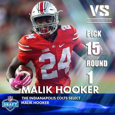 The Indianapolis Colts select  Malik Hooker .. .. .. #DraftDay #NFL #NFLdraft #NFLdraft2017 #football #sports #Colts #velocitysports #Indianapolis