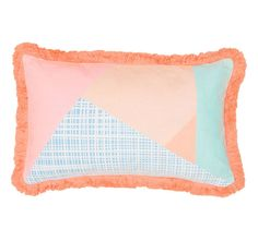 Bambury Zuma 30x50cm Filled Cushion Peach